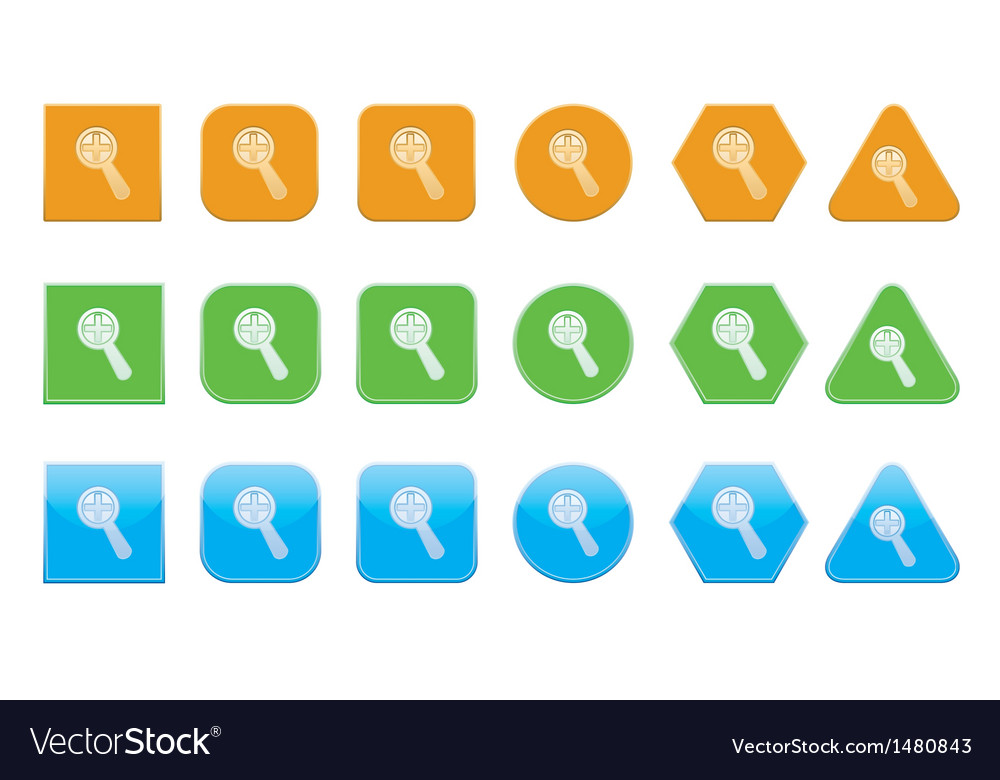 Set Of Increase Icons Royalty Free Vector Image