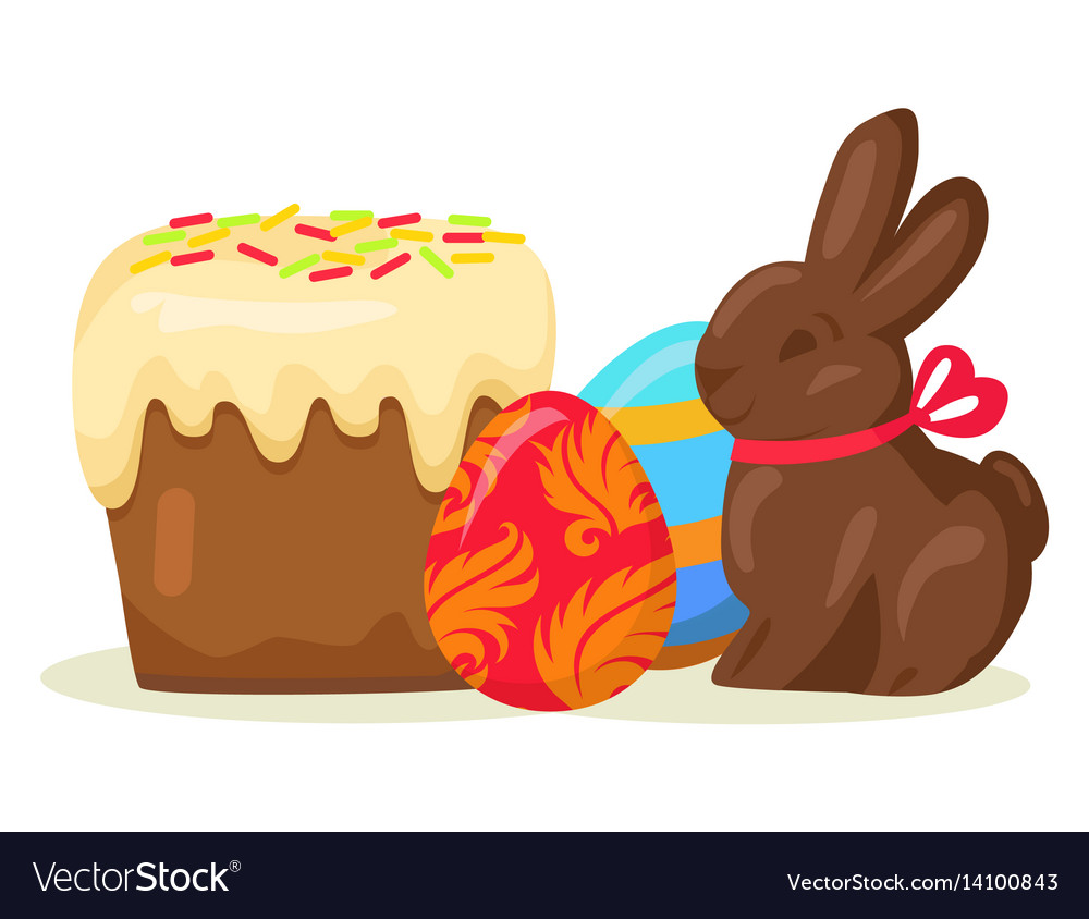 Traditional easter treats isolated
