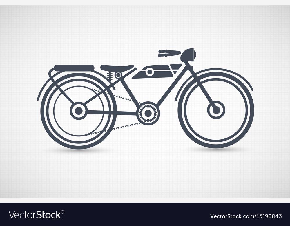 Vintage retro motorcycle