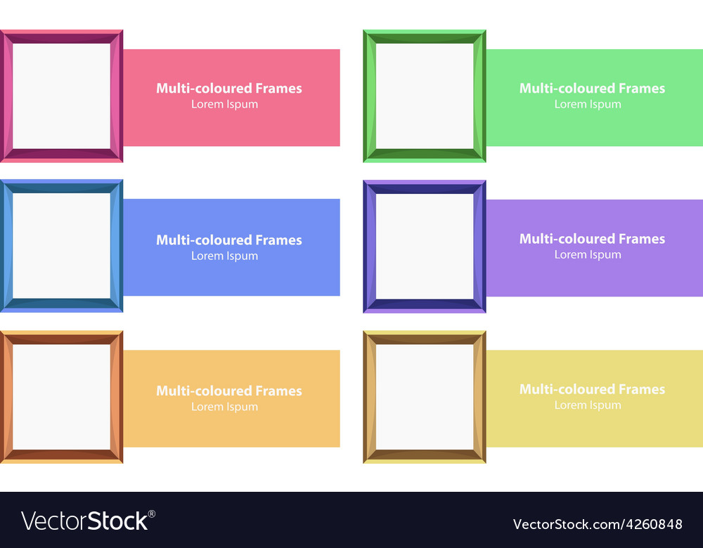 Frames and design vector image