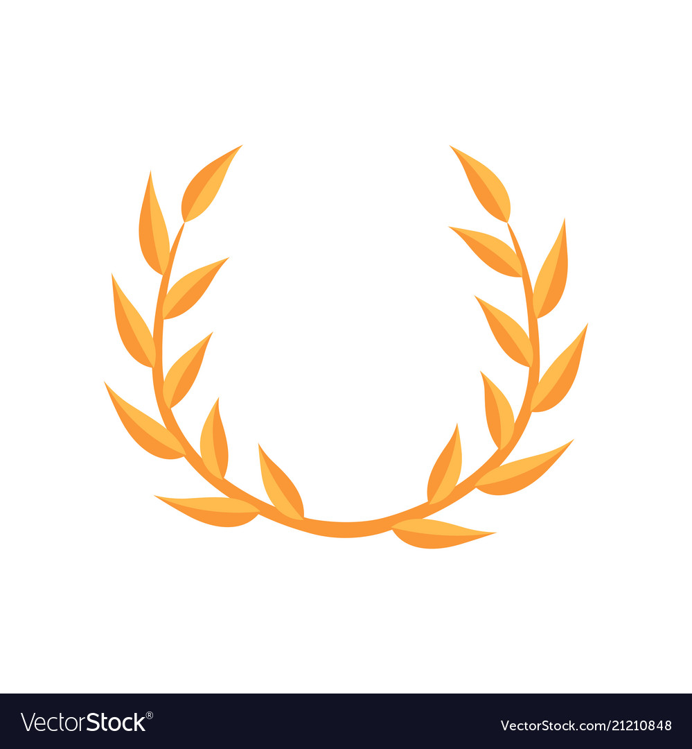 Laurel empire wreath on a