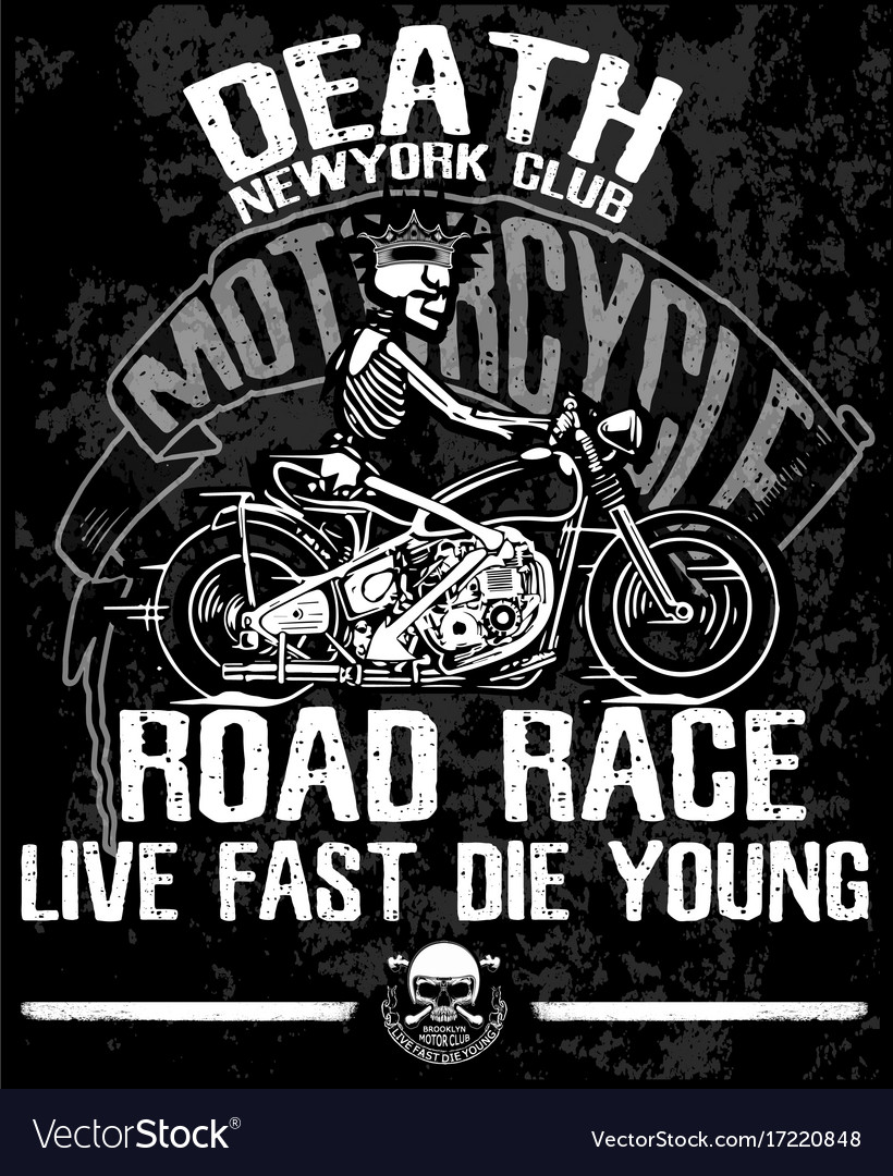 Label T Shirt Design | Motorcycle Label T Shirt Design With Of Custom Vector Image