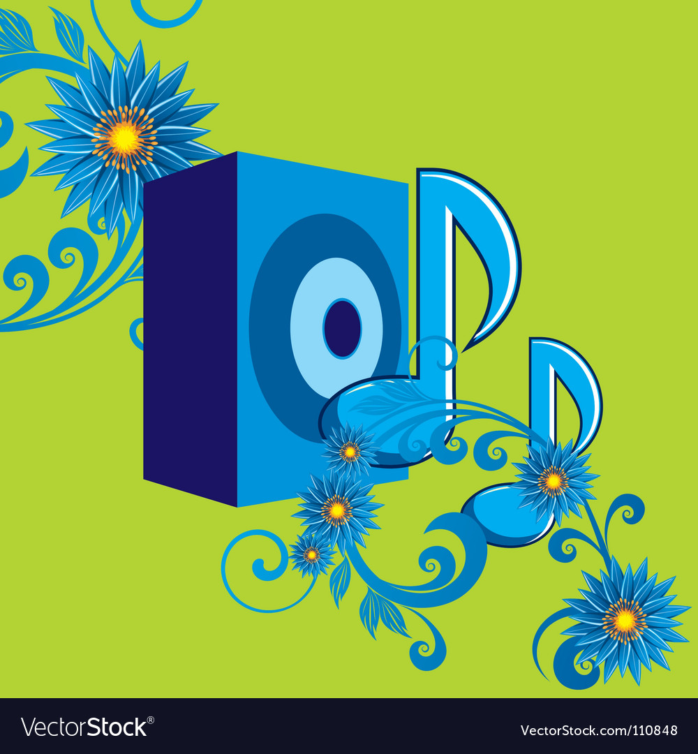 Nature speakers vector image