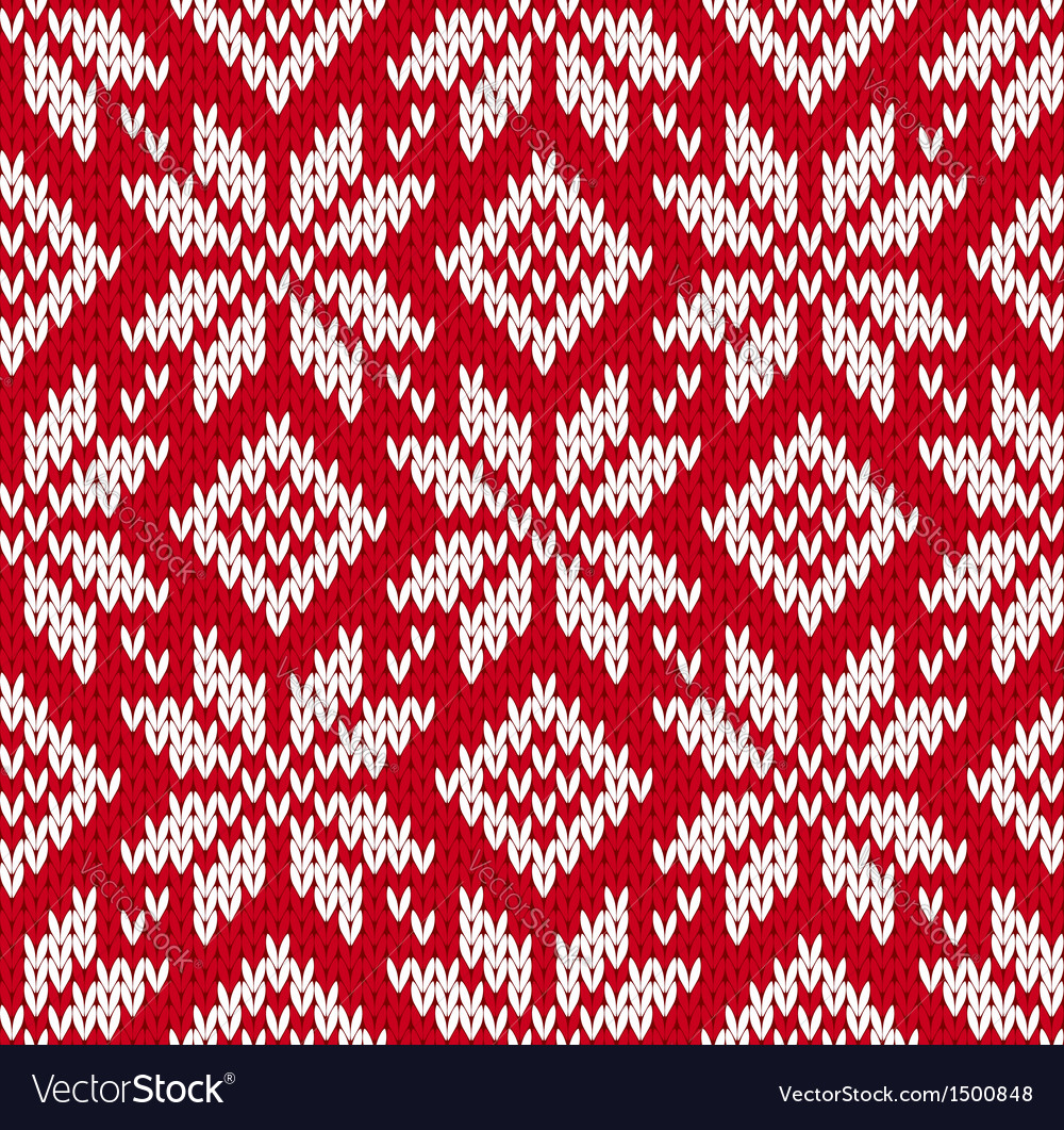 Nordic Knitted Seamless Pattern Royalty Free Vector Image