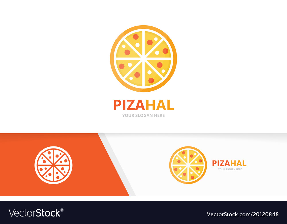 Pizza logo combination food symbol or icon