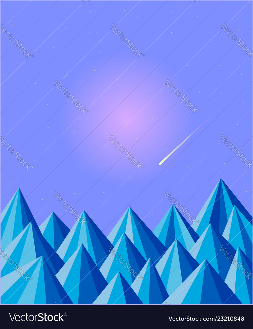 Polygonal triangles abstract natural background