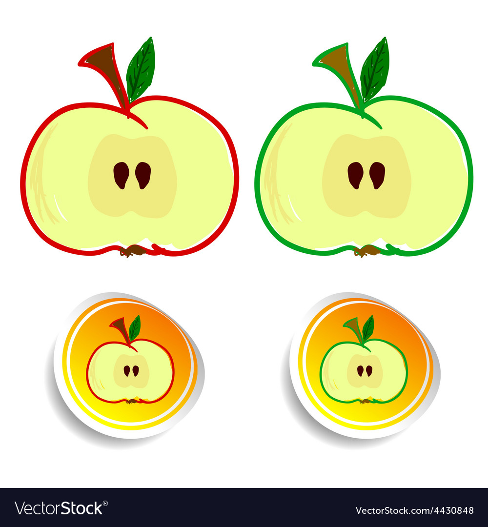 Sticker apple color