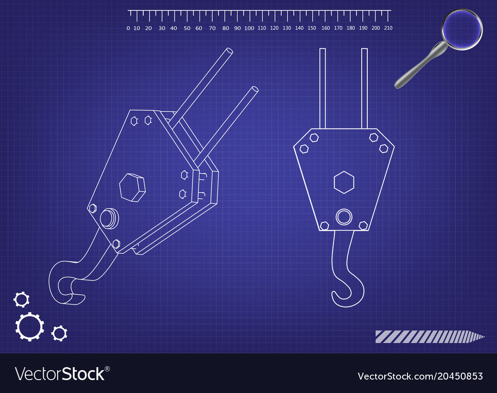 3d model of a crane hook vector image on VectorStock