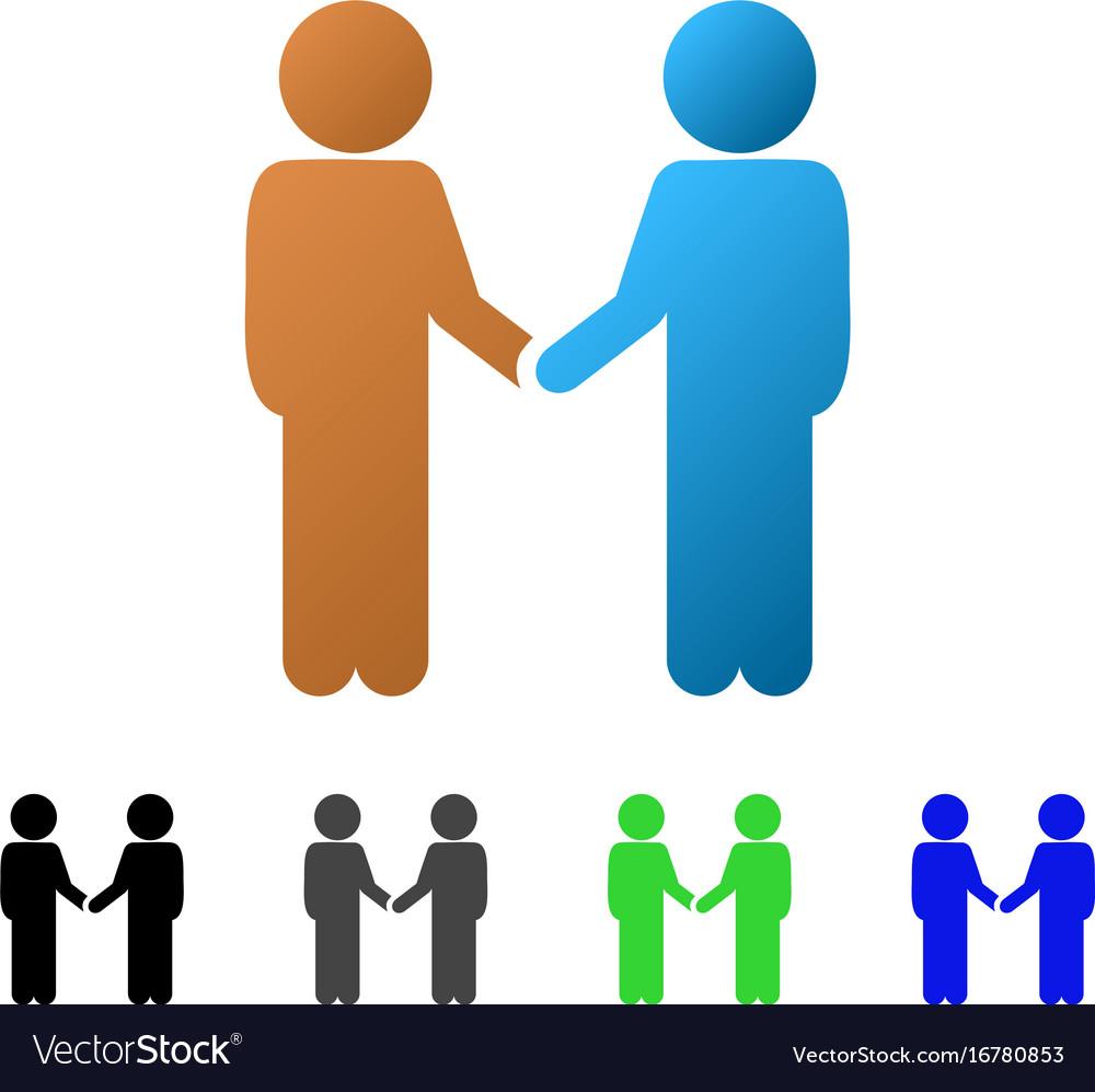Children handshake flat gradient icon