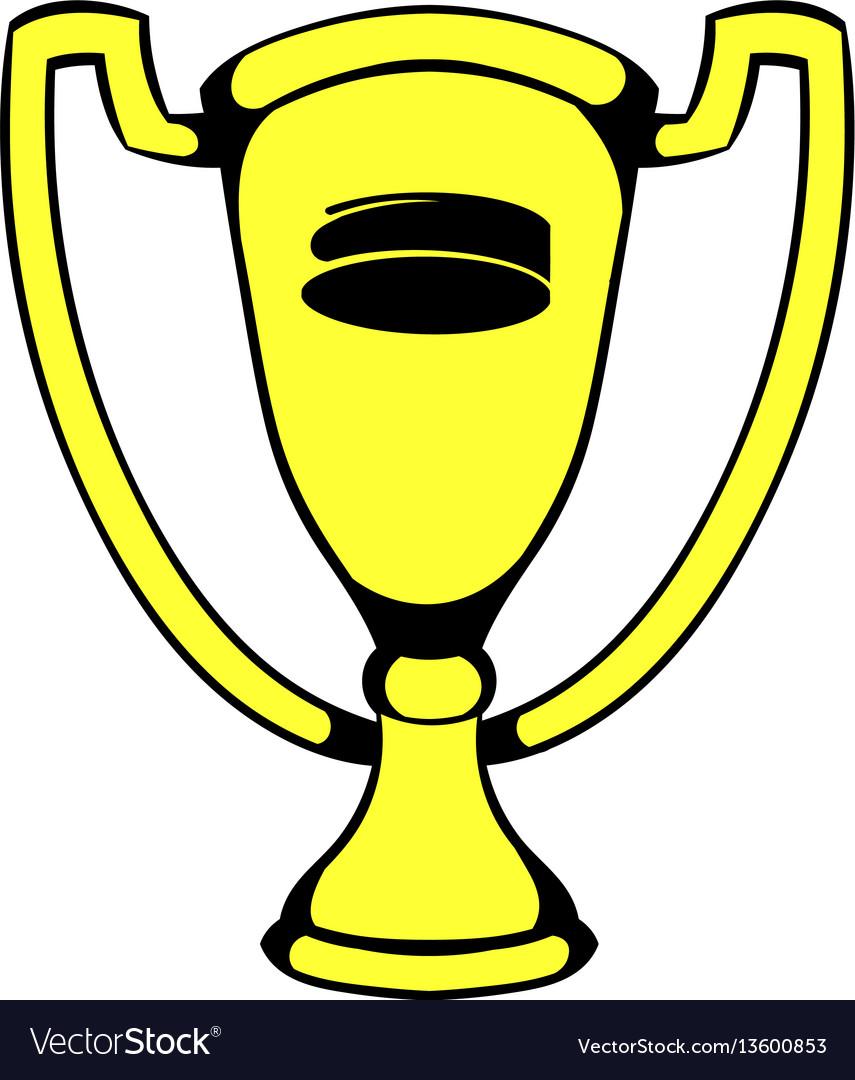 Gold shiny trophy cup award icon icon cartoon