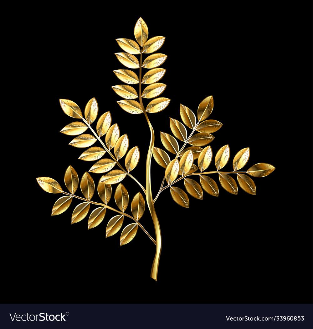 Golden twig