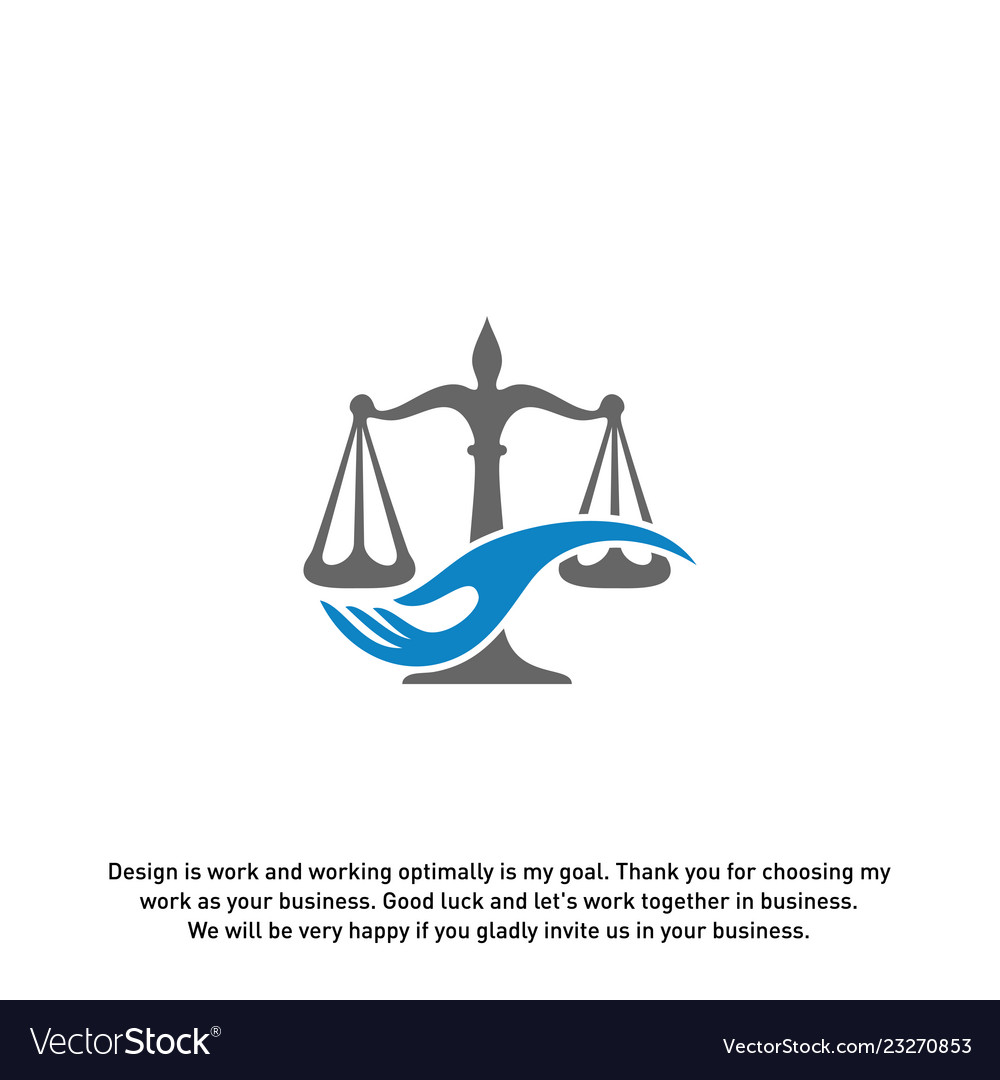 Law care logo design template law firm logo