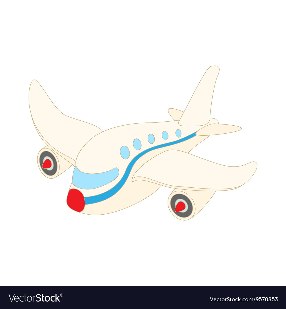 Passenger airliner icon cartoon style