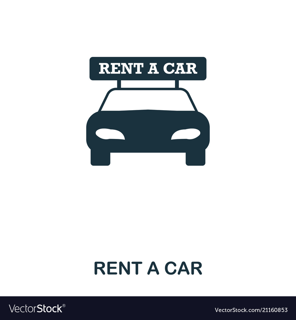 Rent a car icon mobile app printing web site