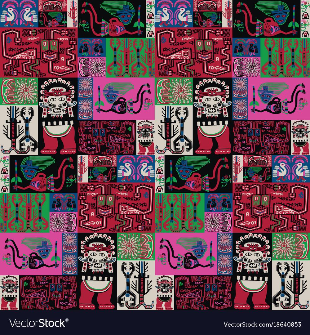 Seamless background with peruvian pattern