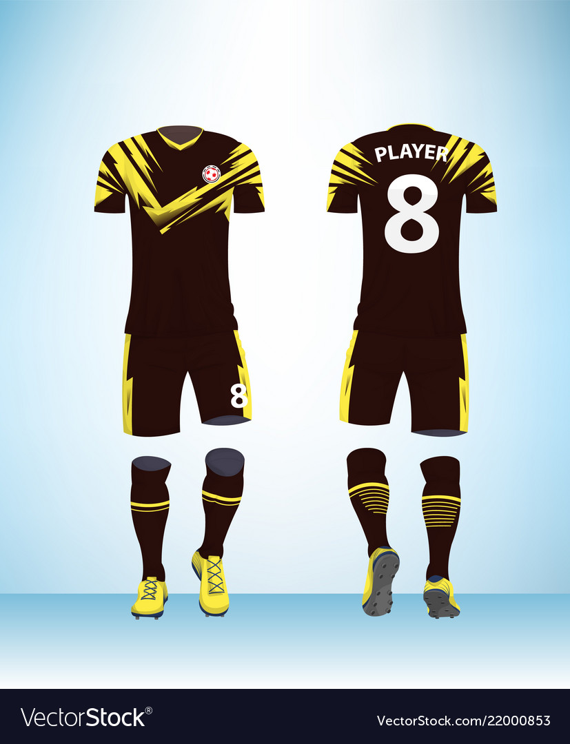 78482763267 Soccer jersey and football kit presentation Vector Image