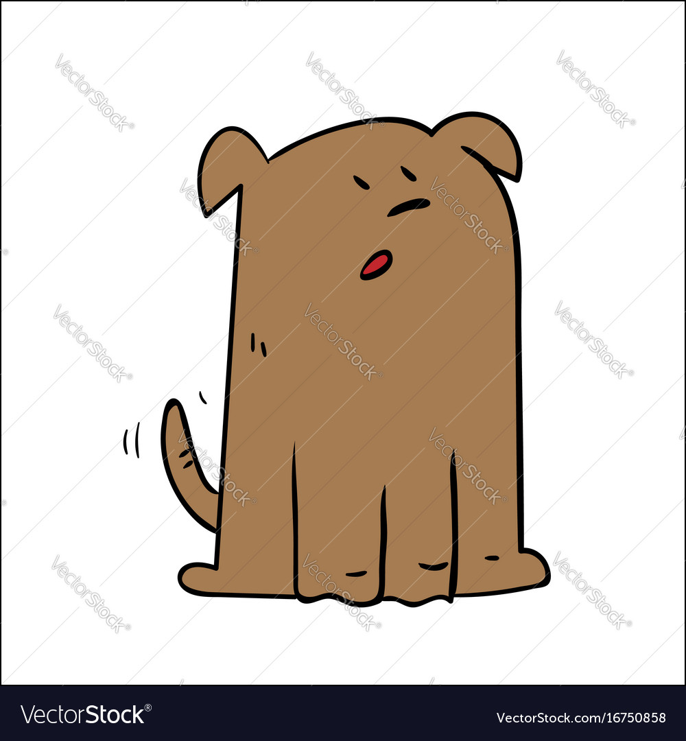 A cartoon dog looking shocked surprised vector image