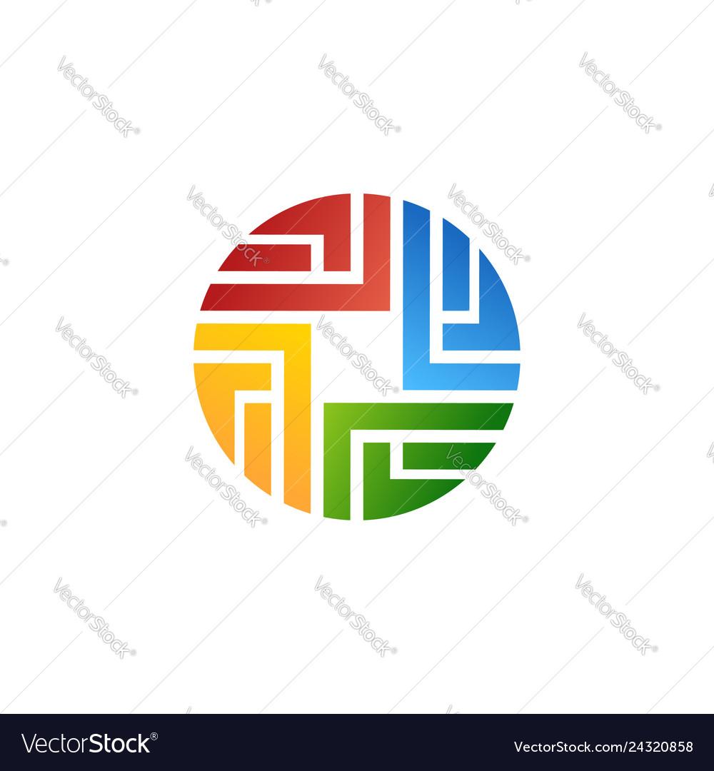 Abstract circle logo symbol icon design