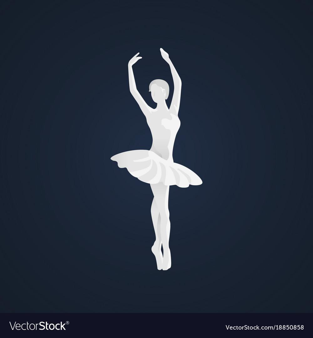 Beautiful Female Ballet Dancer Royalty Free Vector Image