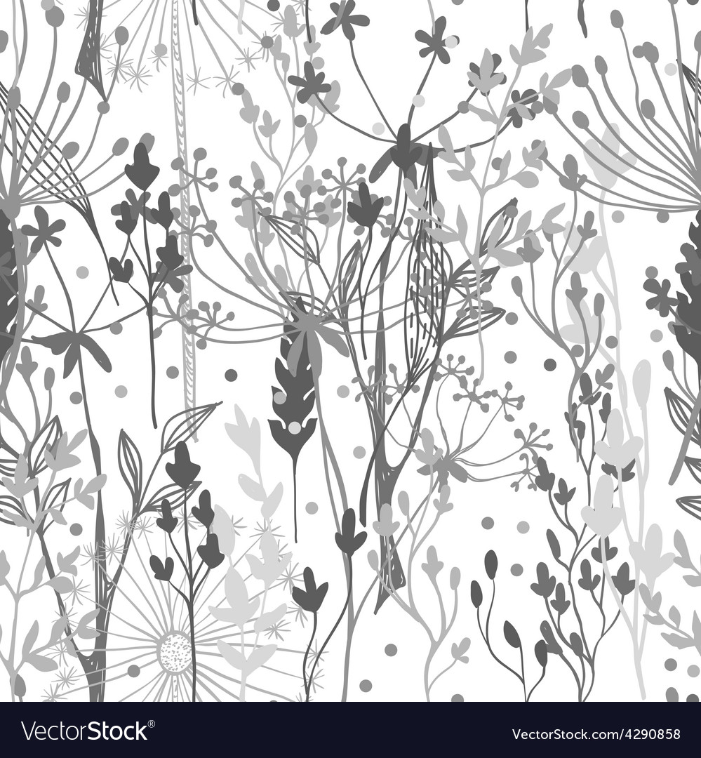 Beautiful grass silhouette vector image