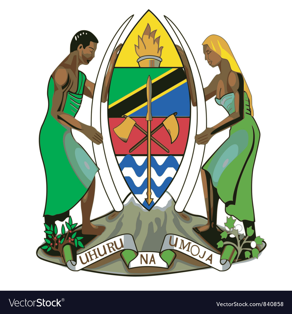 Coat of arms of Tanzania vector image