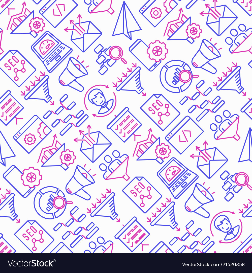 Conversion optimization seamless pattern