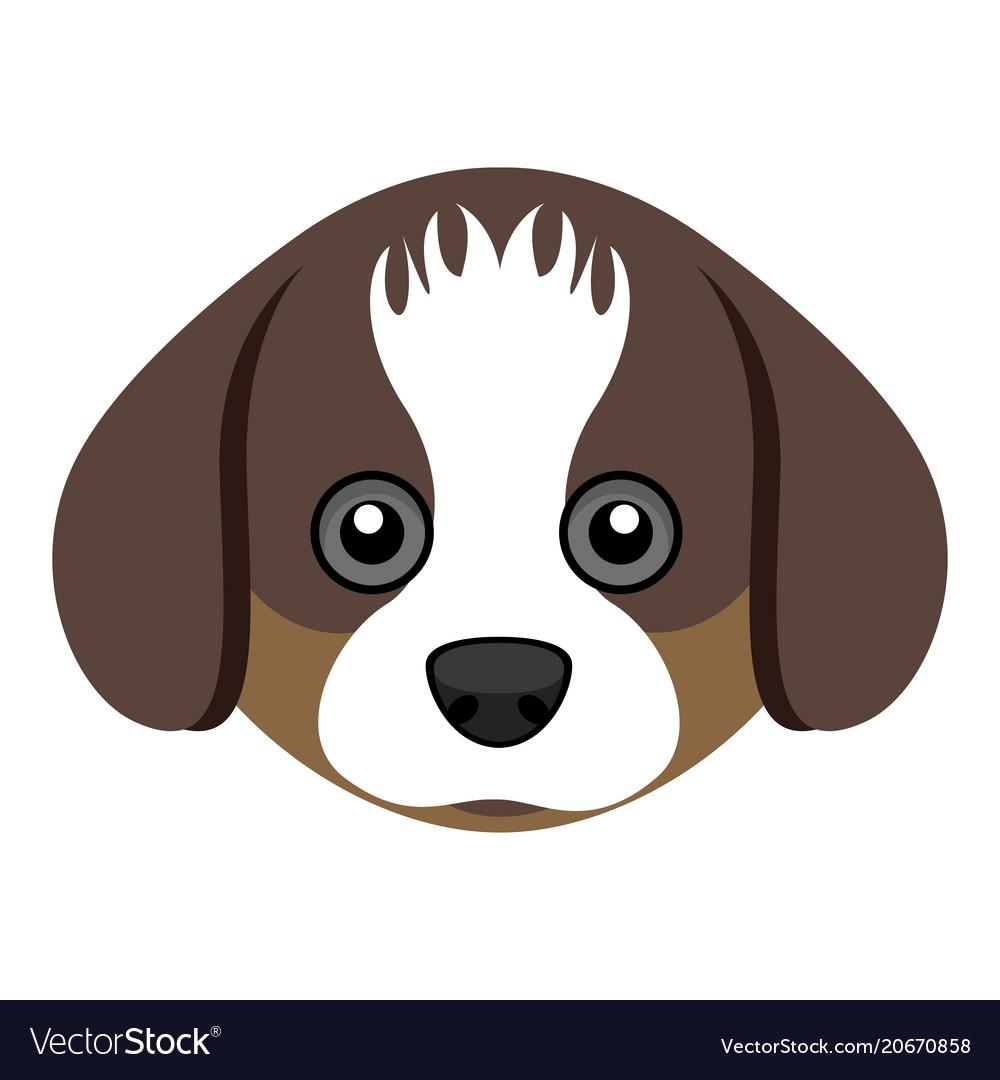 Cute Shih Tzu Dog Avatar Royalty Free Vector Image