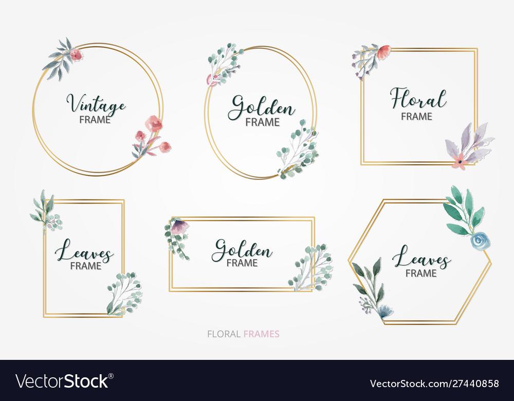 Floral decorative frames set