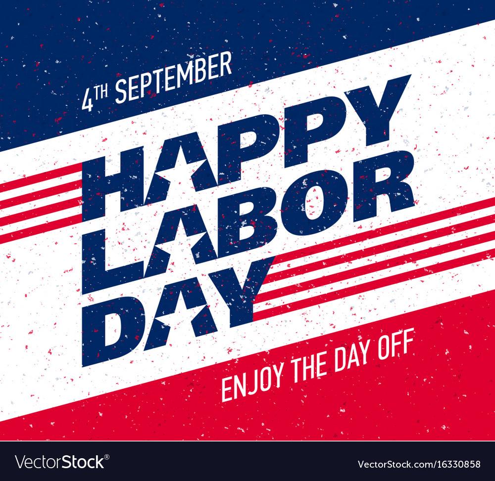 Happy labor day greeting card design