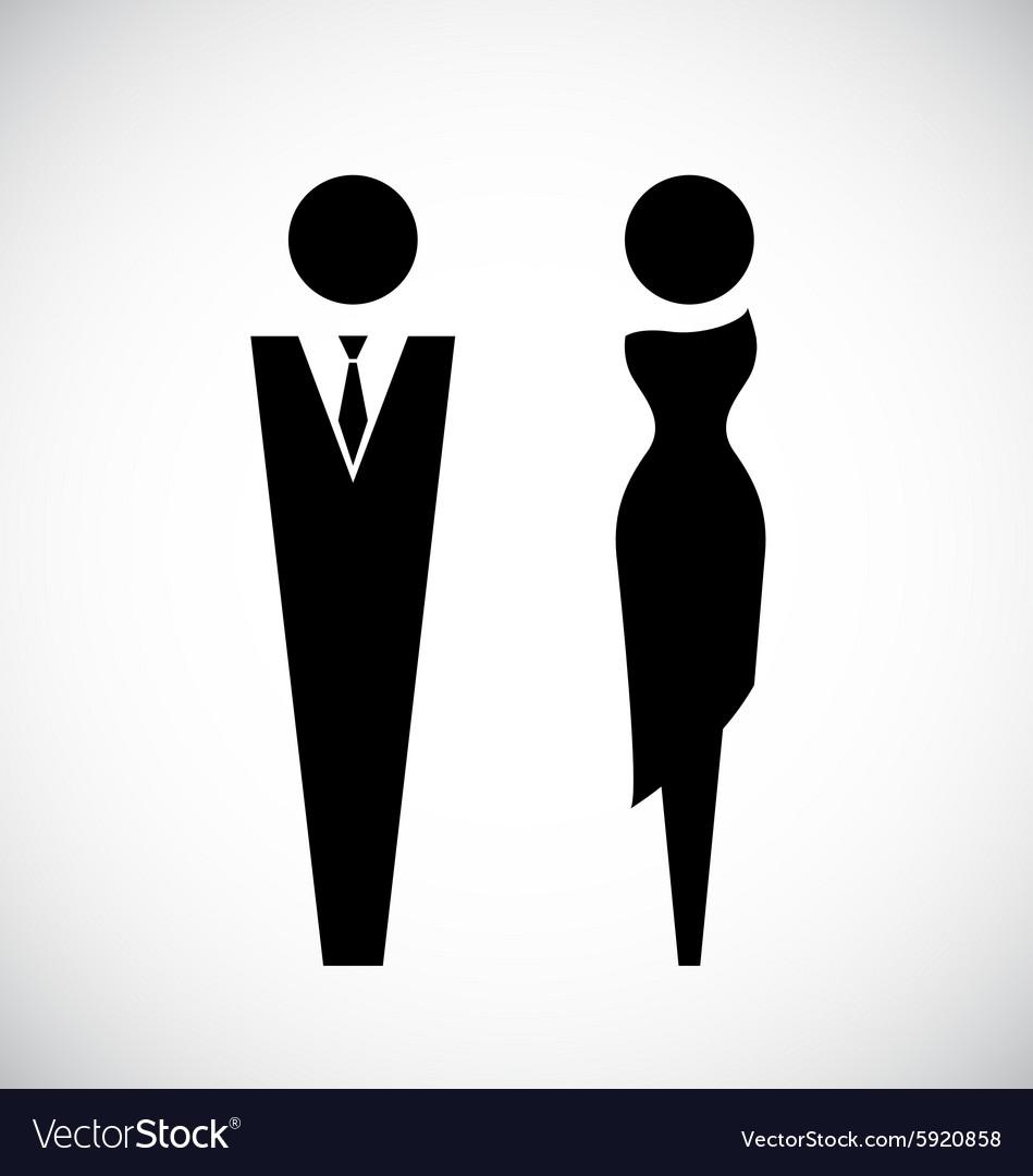 Male and female icon design