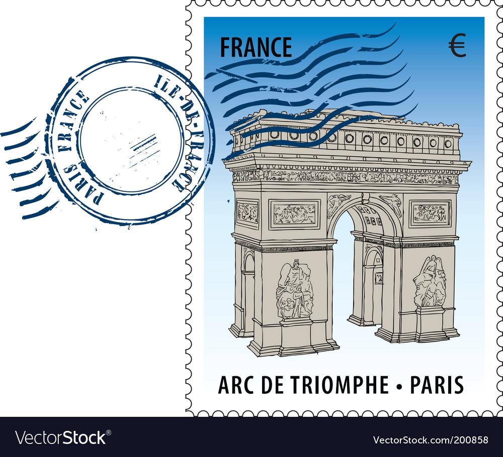 Postmark from France vector image