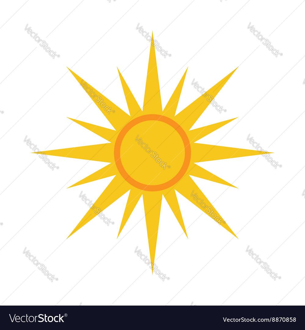 Sun icon Light yellow white background