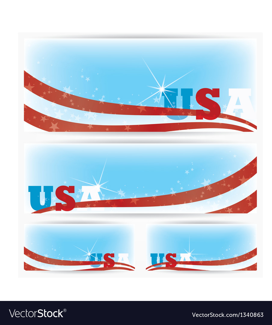 Background banners usa flags brochure