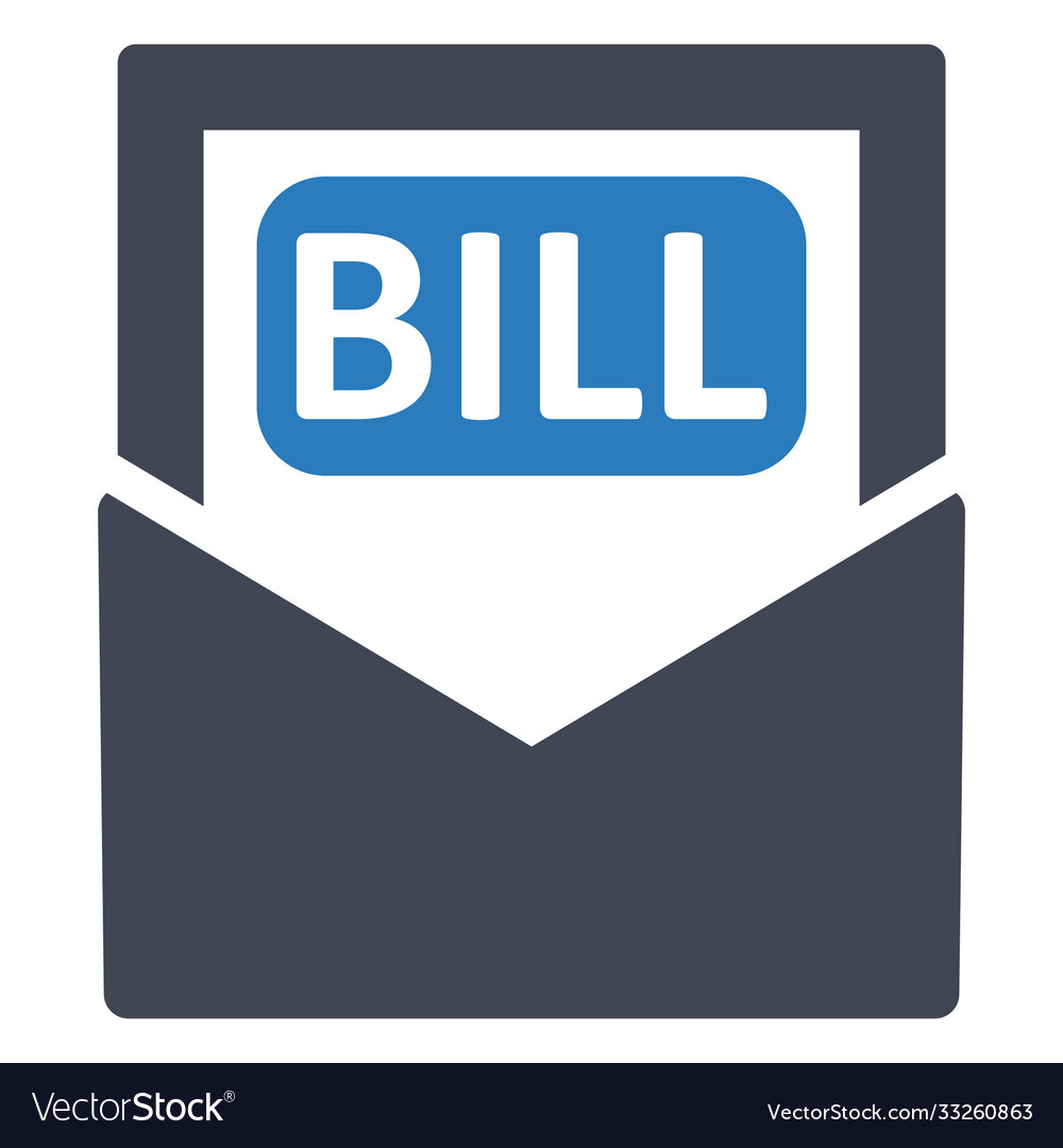 Bill payment invoice icon
