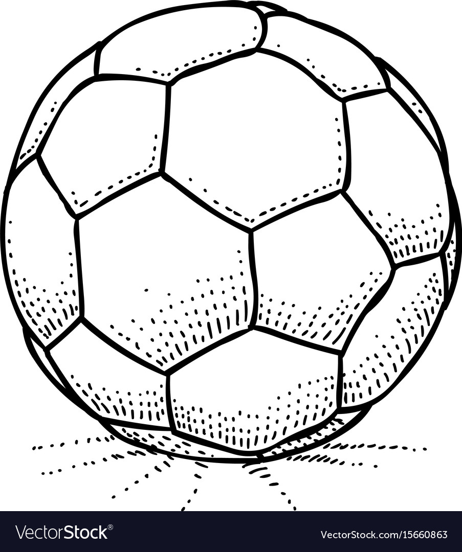 Cartoon image of soccer ball icon football symbol