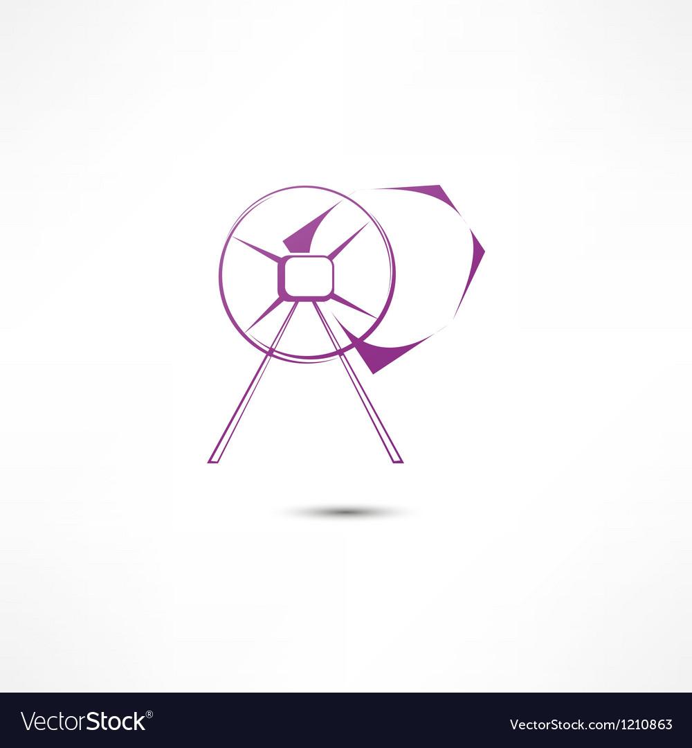 Concrete Mixer Icon vector image