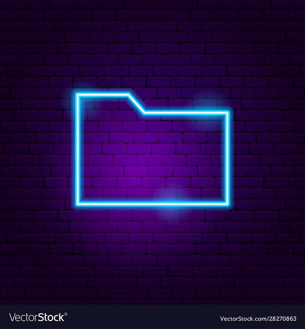 Data folder neon sign