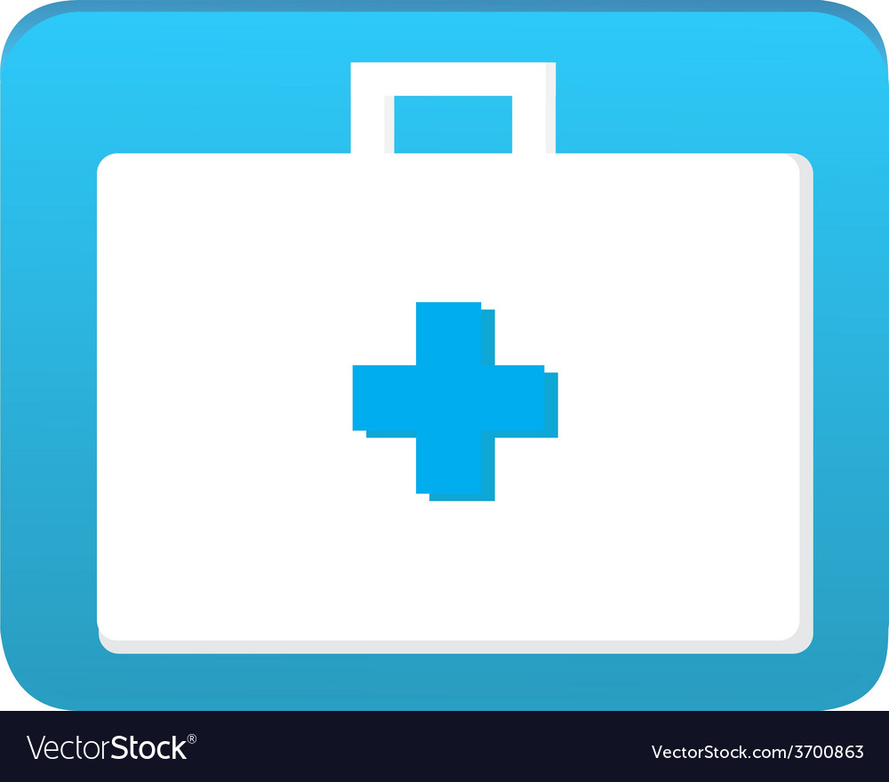 First aid bag icon vector image