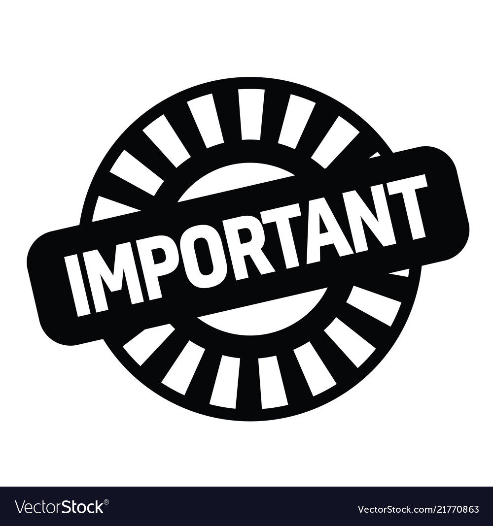 Important rubber stamp vector image on VectorStock