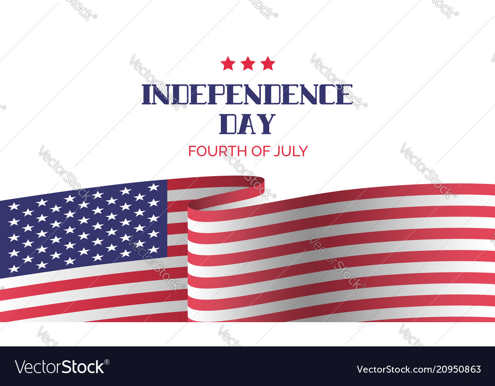 Independence day greeting card banner template