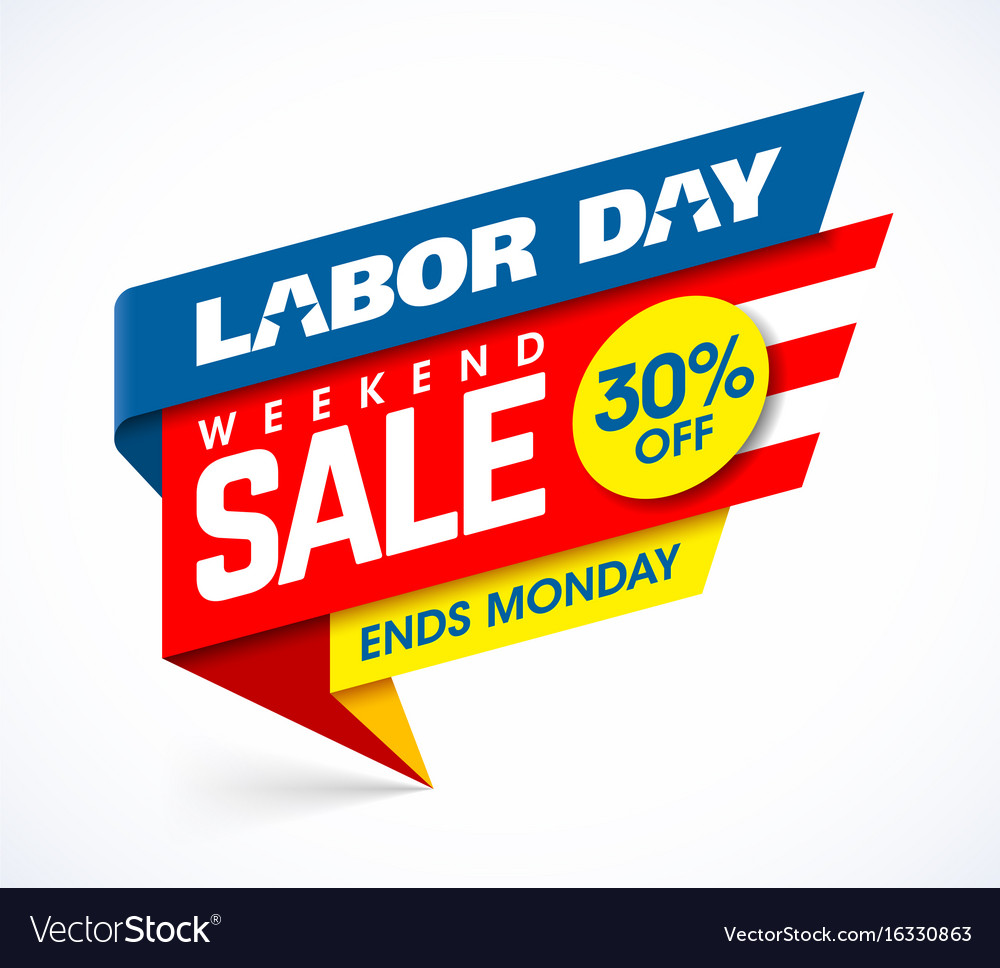 Weekend Sale Banner: Labor Day Weekend Sale Banner Design Royalty Free Vector