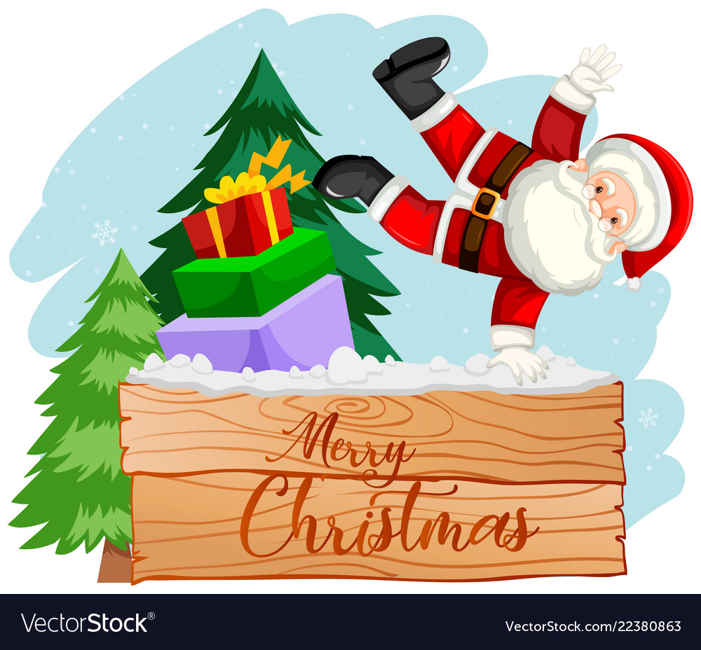 Merry christmas santa scene Royalty