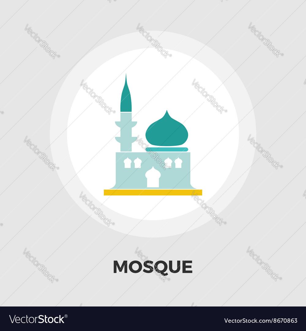 Mosque icon flat