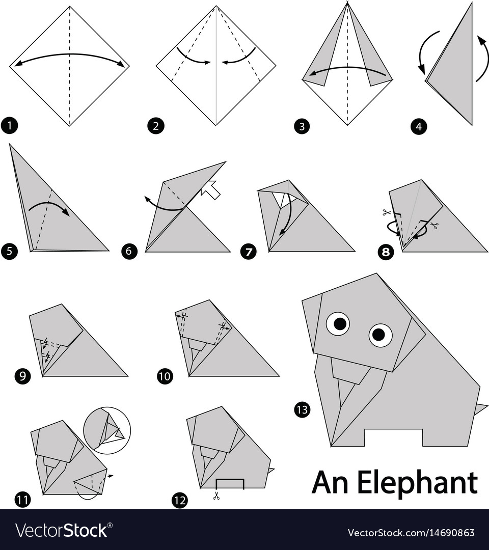 How To Make An Origami Elephant Easy | 1080x960