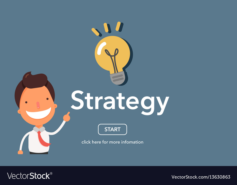 Strategy concept on website page