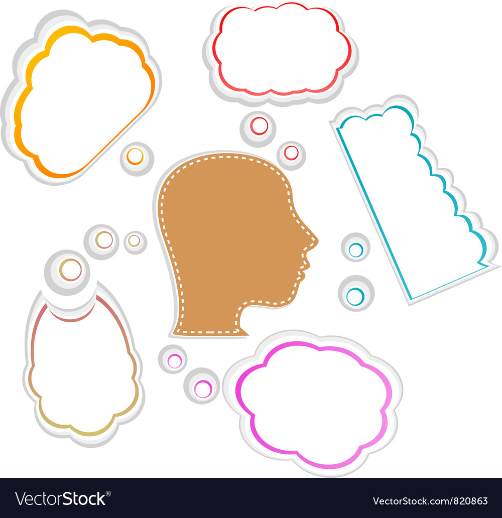 Talking head with speech bubble vector image