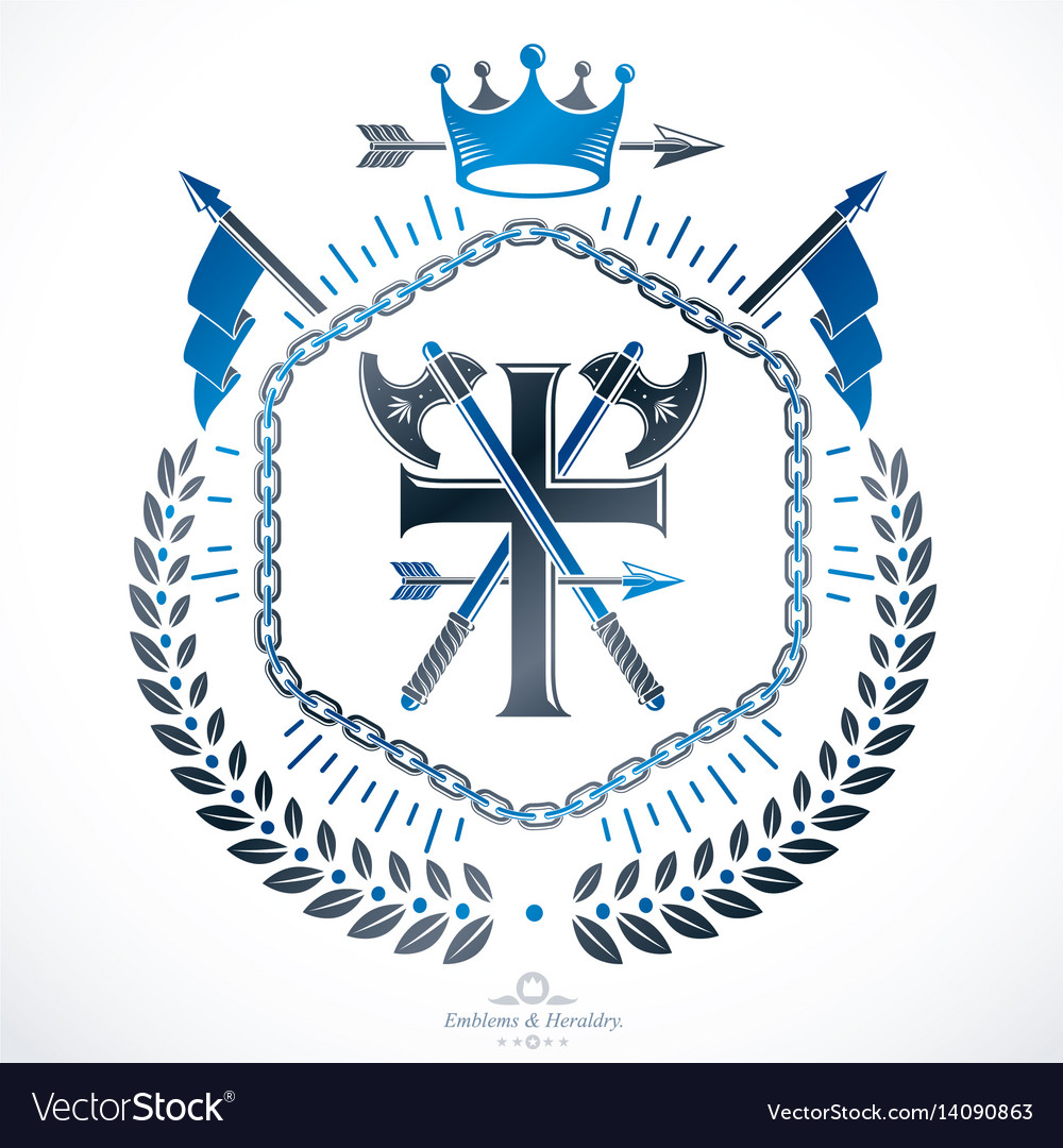 Vintage emblem heraldic design