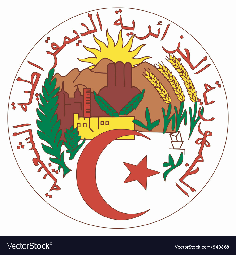 Coat of arms of Algeria vector image