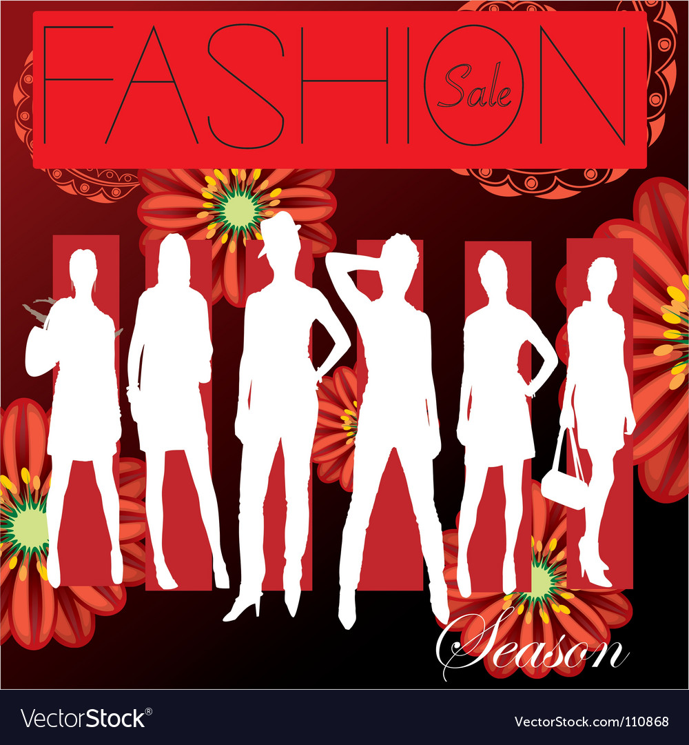 Fashion cover vector image