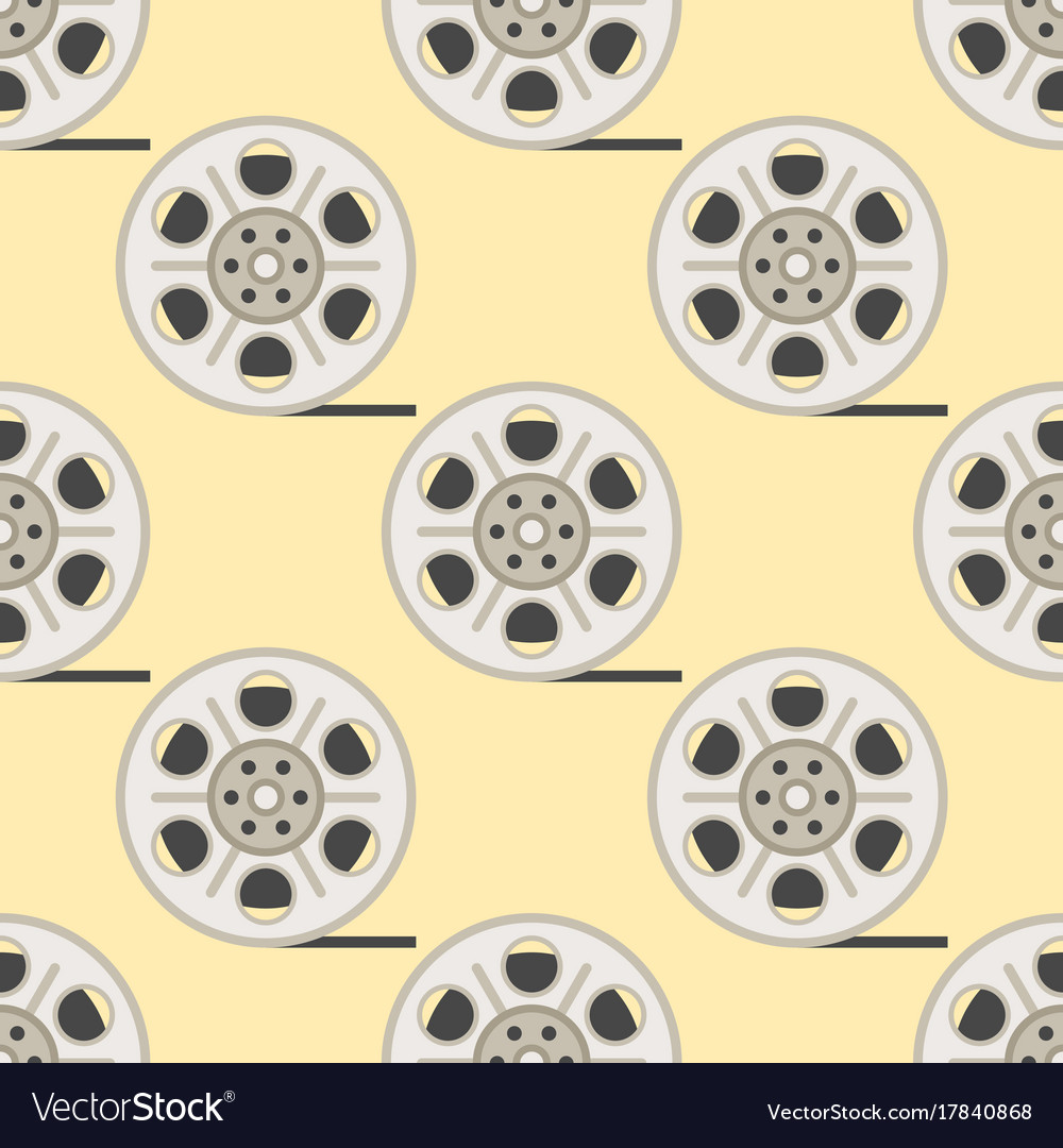 Film cinema technology seamless pattern
